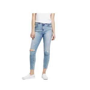 Guess Super High-Rise Distressed Skinny Jeans